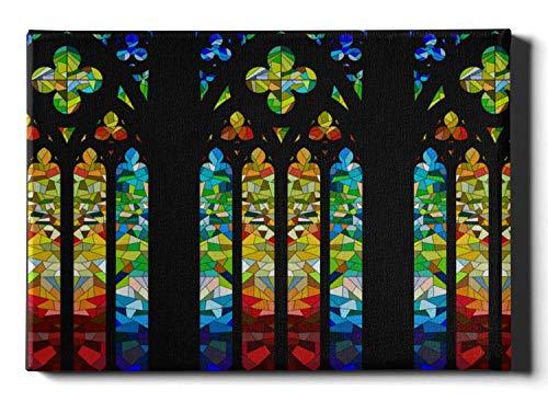 Pintura de pared única Diseño de vidriera gótica Arte de pared pintado 12 x 16 pulgadas (30x40cm) Lienzo Arte de pared para baño Obras de arte de pared Cuadros para colgar en la sala de estar o en el