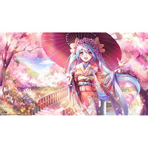 QINGQING Hatsune Miku Kimono Puzzles Anime DIY Puzzle Home Decor Wandkunst Intelligenz Spiel Einzigartiges Geschenk 1000/500/300 Stück(Size:1000)