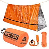 Mezonn Emergency Tent with Survival Whistle & Paracord - Ultralight 2 Person Tube Tent Waterproof Survival Shelter - Use as Emergency Blankets Survival Tent, Survival Gear for Outdoor, Hiking, Camping