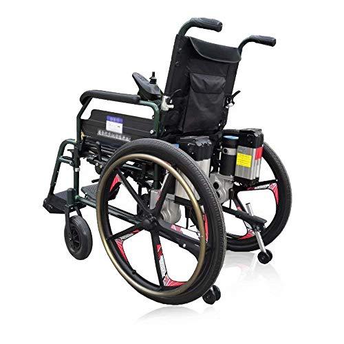 ZHANGYY Rahmen für Rollstuhl-Aluminiumlegierung, leicht faltbar, 360 & deg;Intelligenter Bedienhebel + Kippschutz, Steuerung Fünfgang-Geschwindigkeitsregelung