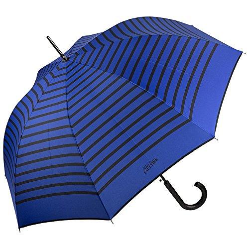 Jean Paul Gaultier Regenschirm Automatik Damen Herren Marius blau Schwarze Streifen