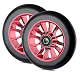 ZJWD Scooter Replacement Wheels,110Mm X24mm Scooter Replacement Wheels with ABEC 9 Bearings,Pro Stunt Scooter Wheel,2Pcs,D