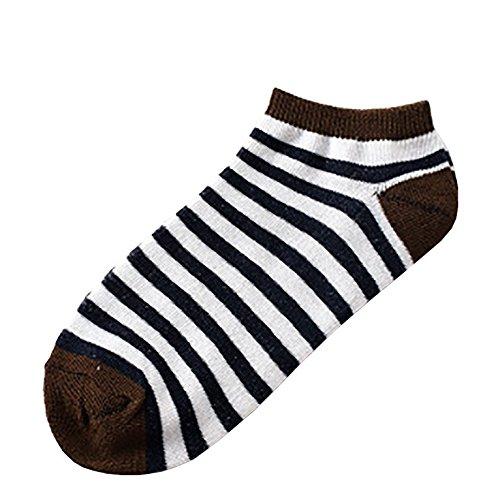 Tosonse 1 Par De Mujeres Calcetines Casuales Cómodos Para Mujer Calcetines Rayas Calcetines De Algodón Calcetines Calcetines Cortos