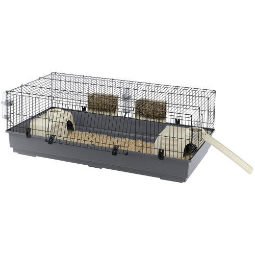 Ferplast 57051414 Cage à Lapin Rabbit 140 Noir 140 x 71 x 51 cm