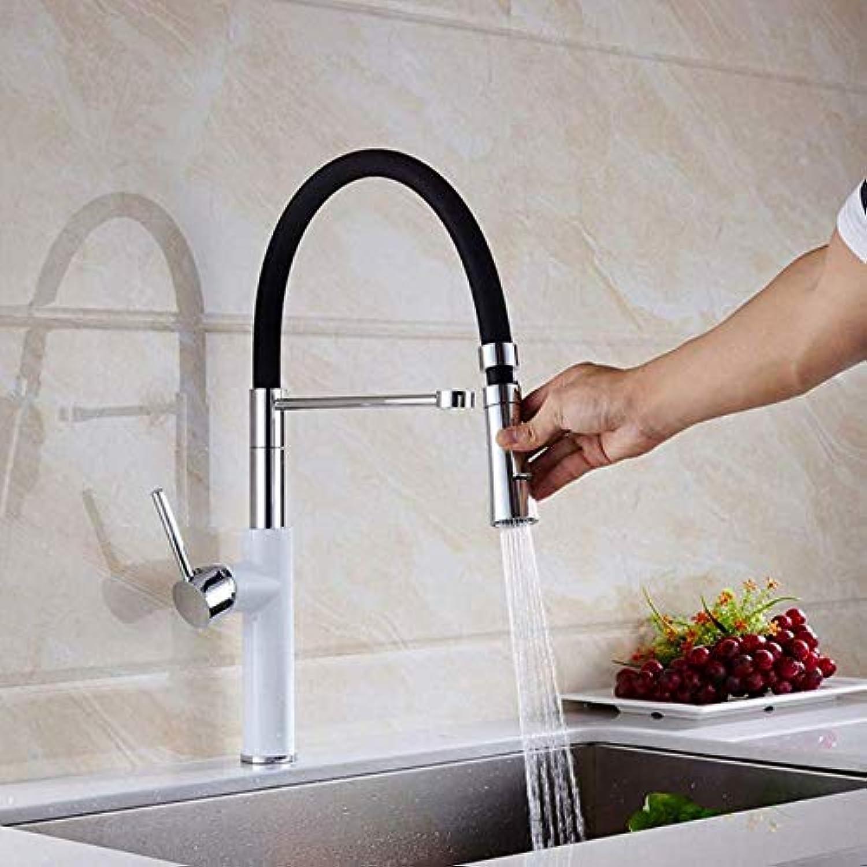 Wasserhahn Schwarzes Mattes Messingküchenwasserhahnüberzug Hoher Standard Heies Und Kaltes Wasser Doppelter Behlterhahnporzellan-Weier Wannenhahn