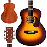 SIGMA, Mini Acoustic Guitar, 37.25' Travel Guitar, Tobacco Sunburst, with D'Addario EXP16 Strings, Solid Spruce Top, Mahogany Back&Sides,Right(10MINI)