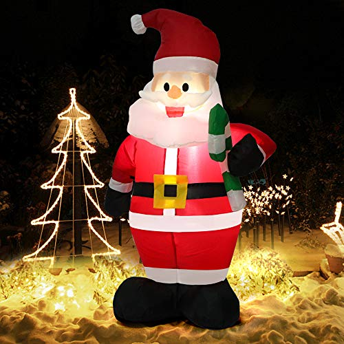 Inflatable Santa Claus 4 Foot With Candy Cane - 6 Models