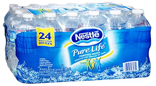 Pure Life 571863 Nestle Pure Life Water 16.9 Oz. 24/Carton (110109)