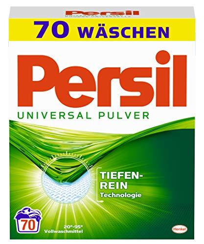 Persil Universal Pulver, Vollwaschmittel 70 (1 x 70) Waschladungen für hygienisch reine Wäsche
