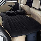 Colchón Inflable Coche SUV Multifuncional Plegable Cama Inflable para Asiento Trasero de Coche con Bomba de Aire Eléctrica + 2 Almohadas Sofá Hinchable con Inflador de Auto Negro (A, negro)