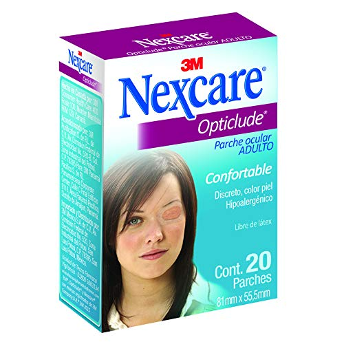 Nexcare Opticlude Orthoptic Eye Patches, Regular Size, 3.18' X 2.18' in oval, 20-Count Boxes (Pack of 4)