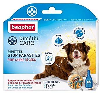 Beaphar - DiméthiCARE pipettes stop parasites - chien (15-30kg) - 6 pipettes