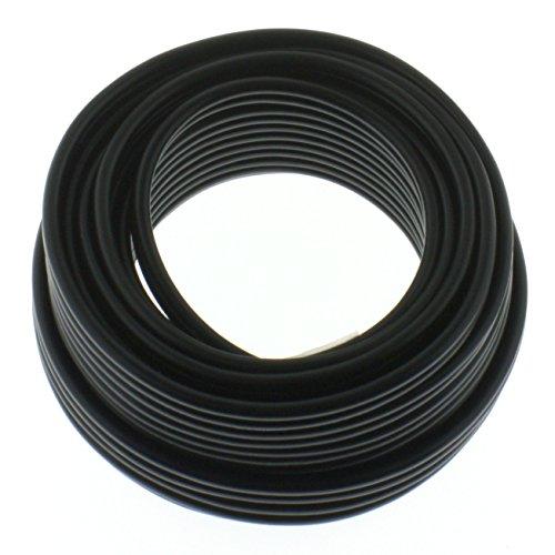 Cable de altavoz redondo 2 x 2,5 mm², negro, bobina de 100 m, CCA –...
