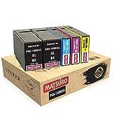 Matsuro Original | Compatible Cartuchos de Tinta Reemplazo para Canon PGI-1500XL PGI1500 XL (1 Set + 1 BK)