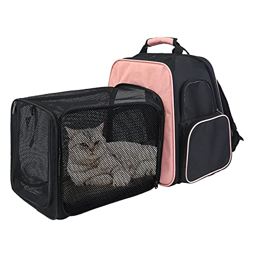 MUMUPET Cat Carriers Dog Carrier Pet Carrier for Small Medium Cats Dogs Puppies, Expandable with Breathable Mesh, Airline Approved Dog Carrier Soft Sided, Collapsible Puppy Carrier,Hold Up to 20 Lbs