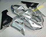Silver Black Fairing For Kawasaki 2005 2006 ZX6R ZX-6R Ninja 636 ZX 6R 05 06 Sport bike Bodywork Kit (Injection molding)