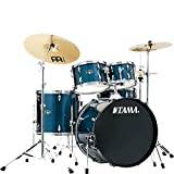 Tama Imperialstar Complete Drum Set - 5-Piece - 22 Inches Kick - Hairline Blue