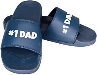 InkPressions #1 Dad Father's Day Adult Mens Slip-On Slides Sandals