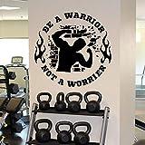 La calcomanía de pared de fitness es un guerrero gimnasio puerta y ventana pegatina de vinilo culturismo dormitorio decoración del hogar mural