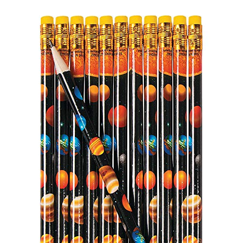 Fun Express Solar System Pencils - 24 Pieces - Educational and Learning Activities for Kids