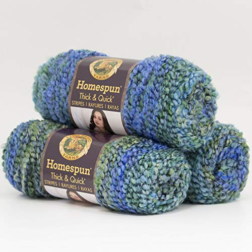 Homespun Thick and Quick Yarn, Lakeside Stripes - Lion Brand Yarn 792-237