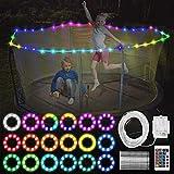 JUUMVIR LED-Trampolin-Lichter, Fernbedienung für Trampolin, 1 Rolle, 100 LEDs, 4 Modi, 16...