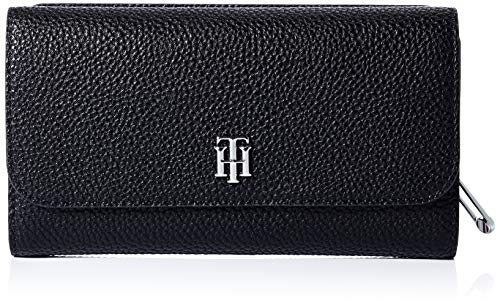 Tommy Hilfiger Women's TH Essence Accessory-Travel Wallet, Black, One Size