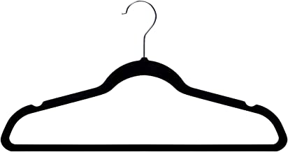 Amazon Basics - Ganchos para ropa de terciopelo, 50 unidades, color negro