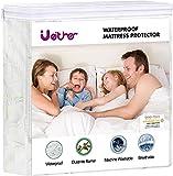 Ueither Premium Impermeable Protector de colchón 150x200 CM, Suave Cubrecolchón, Transpirable Funda para Colchón de Rizo