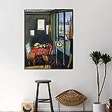 zhuziji DIY Pintar por números Obra de Pintor Famoso Pintar por numeros acrilico con Pincel y Pintura acrílica, Pintura para Adultos por números, Kits de decoración de la habitac50x70cm(Sin Marco)