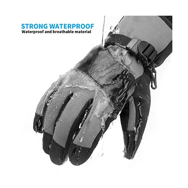 Ski Gloves,Bizzliz Waterproof Winter Warm Gloves Snow Gloves Touch Screen for Outdoor Sport Men Wome
