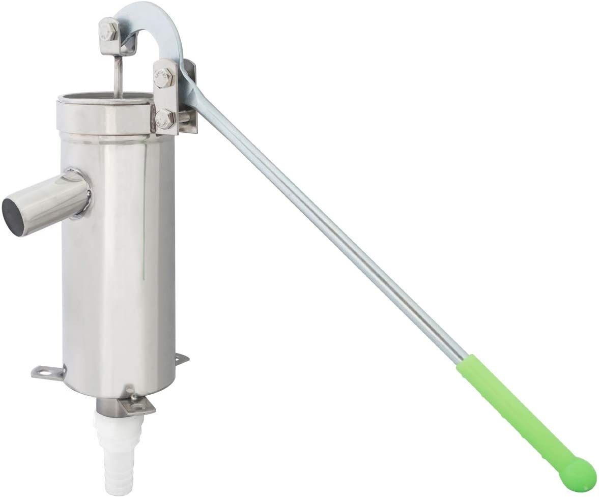 Morimoe Stainless Steel Pitcher Pump Max lift 32 ft Hose/6m Water ...