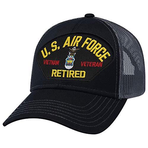 Military Productions US Air Force Vietnam Veteran Retired Mesh Back Cap Black