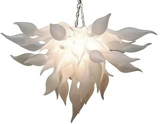 SHIJING Modern White Murano Chandelier Light China Supplier Hand Blown Glass Chandelier for Art Decor LED Bulbs