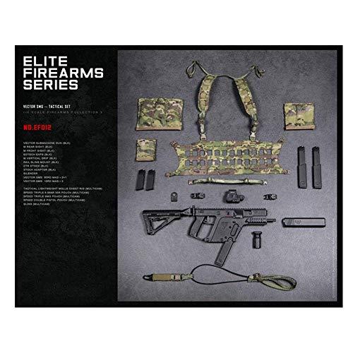 ZSMD DAMTOYS 1/6 Scale Elite Weapon Serie 3 Tactical Vector Stiletto - Juego de pistolas para máquina de coser Dress Up HT Verycool TBLeague Hottoy Phicen