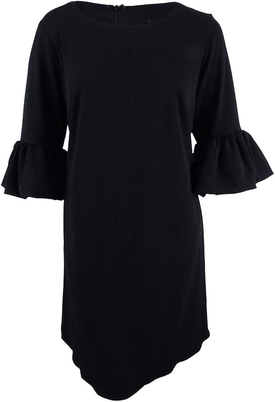 Betsy & Adam Womens Plus Bell Sleeves Professional Flounce Dress
