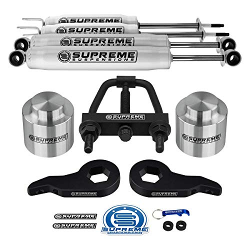 Supreme Suspensions - Complete 3 Inch Suspension Lift Kit with Shock Absorbers for 2001-2006 Chevy Suburban/Tahoe and GMC Yukon 1500 PRO KIT [Unloading Tool Included]