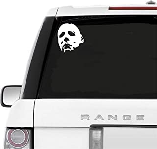 A&B Traders Car Decals Michael Myers Creepy Face 5.5
