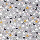 Fabulous Fabrics Wellnessfleece Dreiecke – grau —