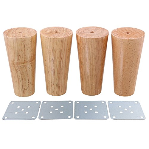 BQLZR Möbelfüße aus Massivholz, 4Stück, M4170724035