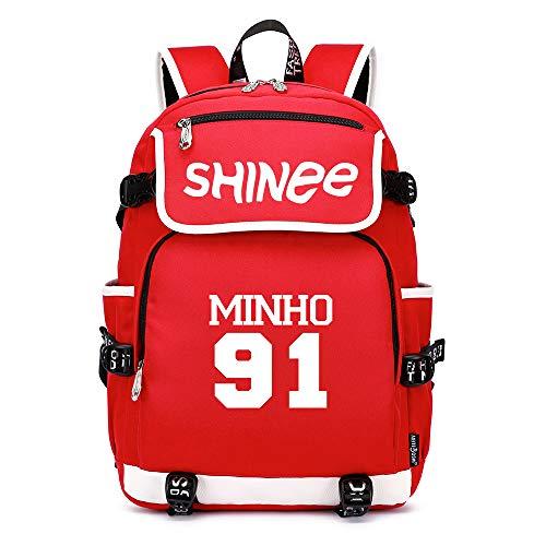 Shinee Rucksäcke Schulranzen Rucksack Daypack Trekkingrucksack Mann und Damenmode Mode Sport Wild Style Wandern Tasche Shinee Backpacks (Color : Red20, Size : 45 X 37 X 16cm)
