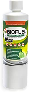 Greenscapes BioFuel All Natural Cooking and Warming Fuel: Refill Bottle with 15 Hr Heating, 15 oz