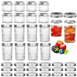 16 Pack Mason Jars,Canning Jars, Jelly Jars With Regular Lids, Ideal for Jam, Honey, Baby...