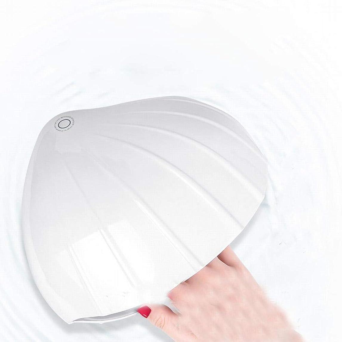 ピルファー戸棚シュートYESONEEP ネイル光線療法機ネイルポリッシュ光線療法ランプ家庭用ドライヤー速乾性ネイルランプスマートネイルランプ (Size : White)