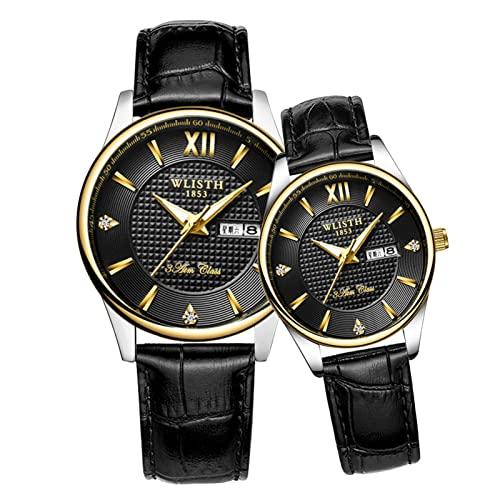 GDHJ Unisex Fashion Young Quartz Watch Couple Wrist Watch 3ATM Waterproof Luminous Pointer...
