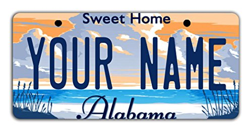 BleuReign Personalize Your Own Alabama State Bicycle Bike Stroller Children's Toy Car 3'x6' License Plate Tag