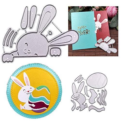 Plantillas de troquelado de Pascua para álbum de fotos, tarjetas, manualidades o regalo