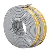 Tiras de sellado para ventanas de 10 m, tipo E, cinta de goma para sellar la intemperie, antideslizante, impermeable, 9 mm x 4 mm x 2,5 m, 4 juntas en total 10 m