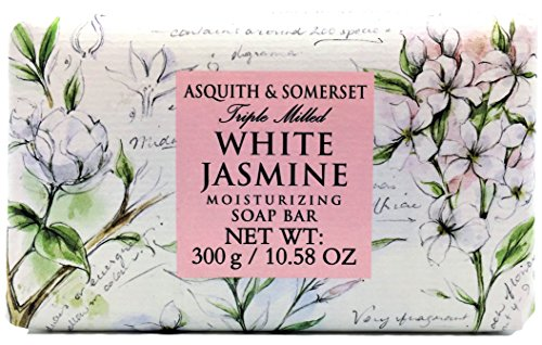 Asquith & Somerset White Jasmine Moisturizing Triple Milled Soap 10.5 Oz, Imported From England