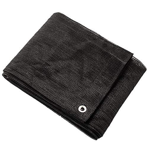Malla Sombreo 70%-75% Tela Resistente A Los Rayos UV Tela Transpirable Vela Toldo Parasol Al Aire Libre con Ojales Toldo Vela de Sombra LQHZWYC (Color : Black, Size : 2x5m)